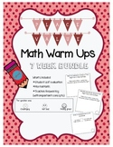 Daily Math Review - Place Value (7 week bundle)