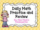 Daily Math Review / Math Calendar Board {Kindergarten}
