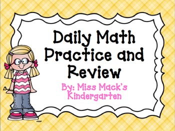 Daily Math Review / Math Calendar Board {Kindergarten}