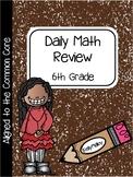 Sixth Daily Math Review   Sixth Grade Spiral Math Review