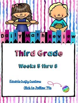 Daily Math Review: Third Grade (Weeks 5 thru 8)