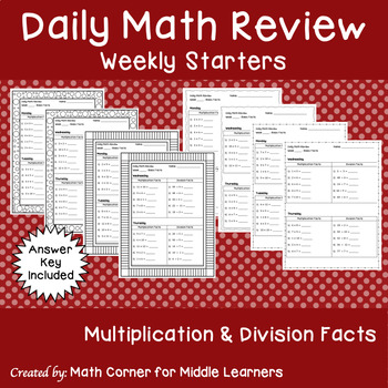 Daily Math Review Weekly Starters
