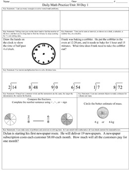 Daily Math Practice Units 28 - 36 *Revised 07/2016