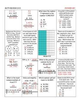 Daily Math Review for April