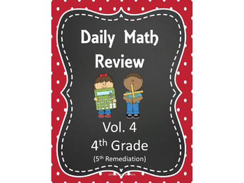 Daily Math Review for the Smart Board- Volume 4