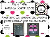 Daily Math Rotation Labels