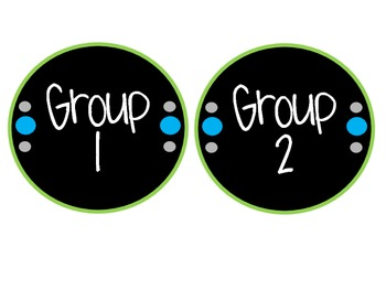 Daily Math Rotation Labels: Gray, Green, and Blue