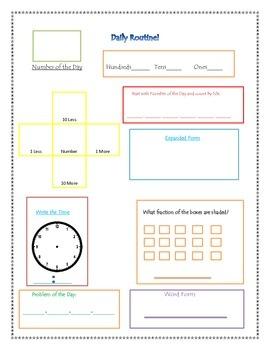 Daily Math Routine
