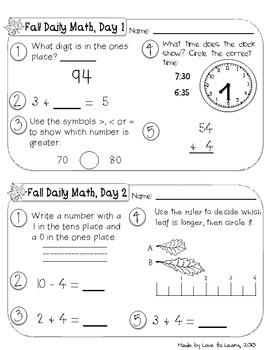 Daily Math Second Grade Bundle Pack