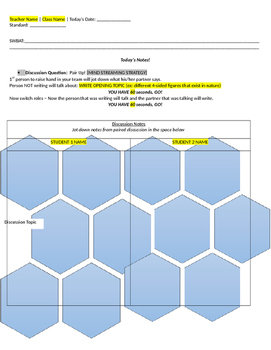 Daily Math Sheet Template