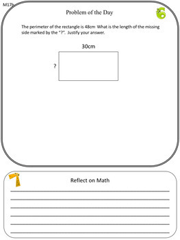4/5 Differentiated Daily Math: Length, Area and Perimeter