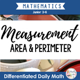 MEASUREMENT: Differentiated Daily Math for Gr. 3-6 - Length, Area and Perimeter