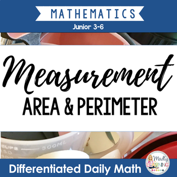 Area and perimeter word problems metric teaching resources measurement differentiated daily math for gr 3 6 length area and fandeluxe Gallery