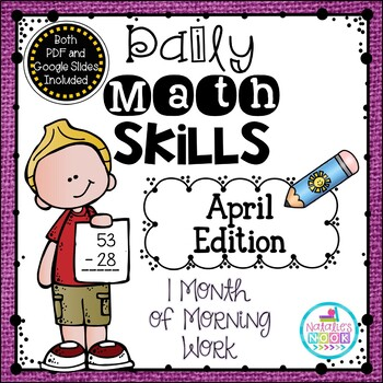 Daily Math Skills {April Morning Work}