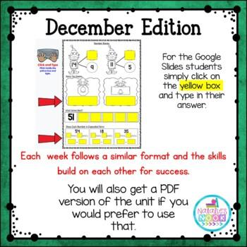 Daily Math Skills {December Morning Work}
