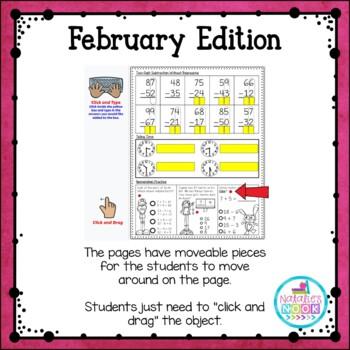 Daily Math Skills {February Morning Work}