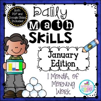 Daily Math Skills {January Morning Work}