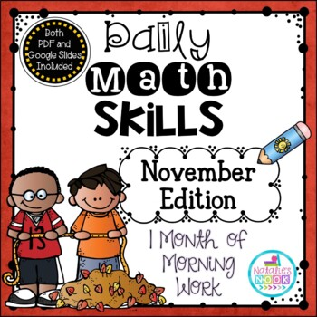 Daily Math Skills {November Morning Work}