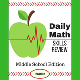 Daily Math Skills Review for Middle School - Volume 2