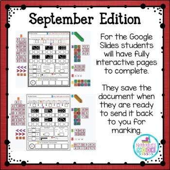 Daily Math Skills {September Morning Work}