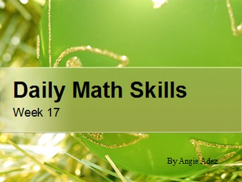 Daily Math Skills Week 18- Christmas Theme