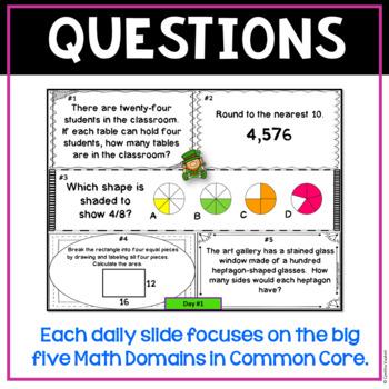 Daily Math Spiral!