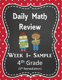 Daily Math Spiral Review- 4th Grade