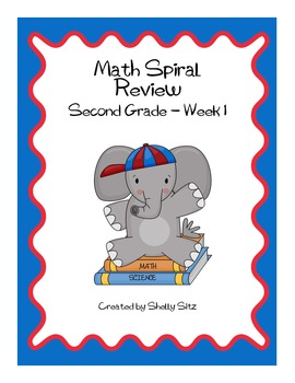 Daily Math Spiral Review For Second Grade - Week 1