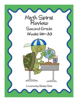 Daily Math Spiral Review for Second Grade, Week 26-33