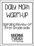 Daily Math Sprial Review Warm Ups for First Grade