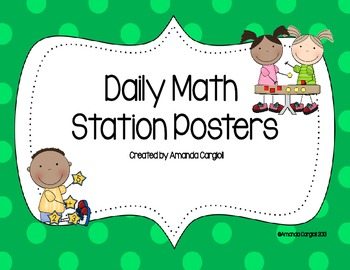 Daily Math Station Posters