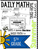 Daily Math Summer Take-Home Booklet Fifth Grade