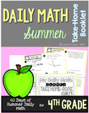 Daily Math Summer Take-Home Booklet Fourth Grade