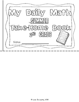 Daily Math Summer Take-Home Booklet Second Grade