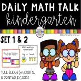 Kindergarten Math Talks - Set 1 & 2