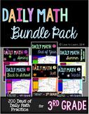 Daily Math Third Grade Bundle Pack