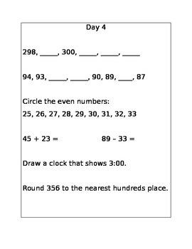 Daily Math Twist Packet 1