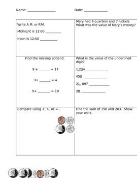 Daily Math Warm Up