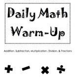 Daily Math Warm-Up – 34 Weeks
