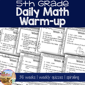 Daily Math Warm Up - 5th Grade