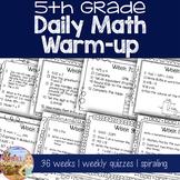 Daily Math Warm Up - 5th Grade