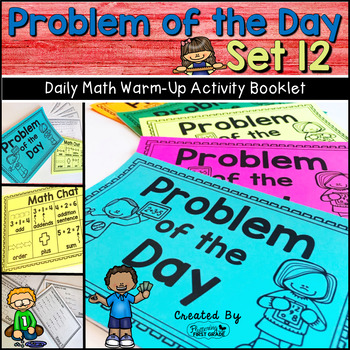Daily Math Warm Up Activity Booklet: Problem of the Day - Set 12