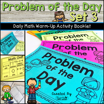 Daily Math Warm Up Activity Booklet: Problem of the Day - Set 3
