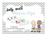 Daily Math Warm-Up Cards [Kindergarten]