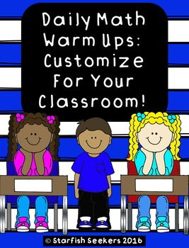 Daily Math Warm Up - Templates
