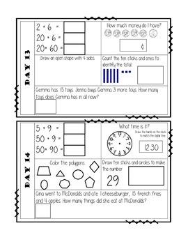 Daily Math Warm Ups (30 days)