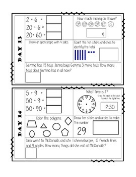 Daily Math Warm Ups (30 days)