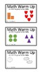 Math Task Card Activities - August and September