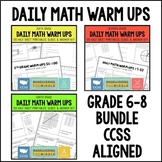 Common Core Math Daily Warm Ups {6-8 Grade Bundle}