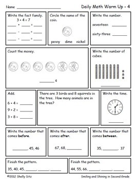 Math For Second Grade First Trimester By Shelly Sitz Tpt border=